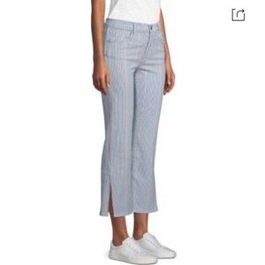 NWT 3X1 Austin Cropped Striped Pants In Nillie 26